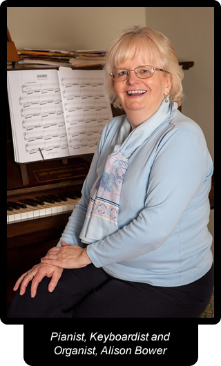Pianist, Keyboardist and Organist, Alison Bower