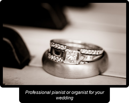 Professional pianist or organist for your wedding